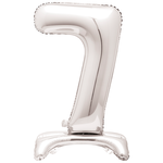 30'' SILVER FOIL STANDING BALLOON NUMBER 7