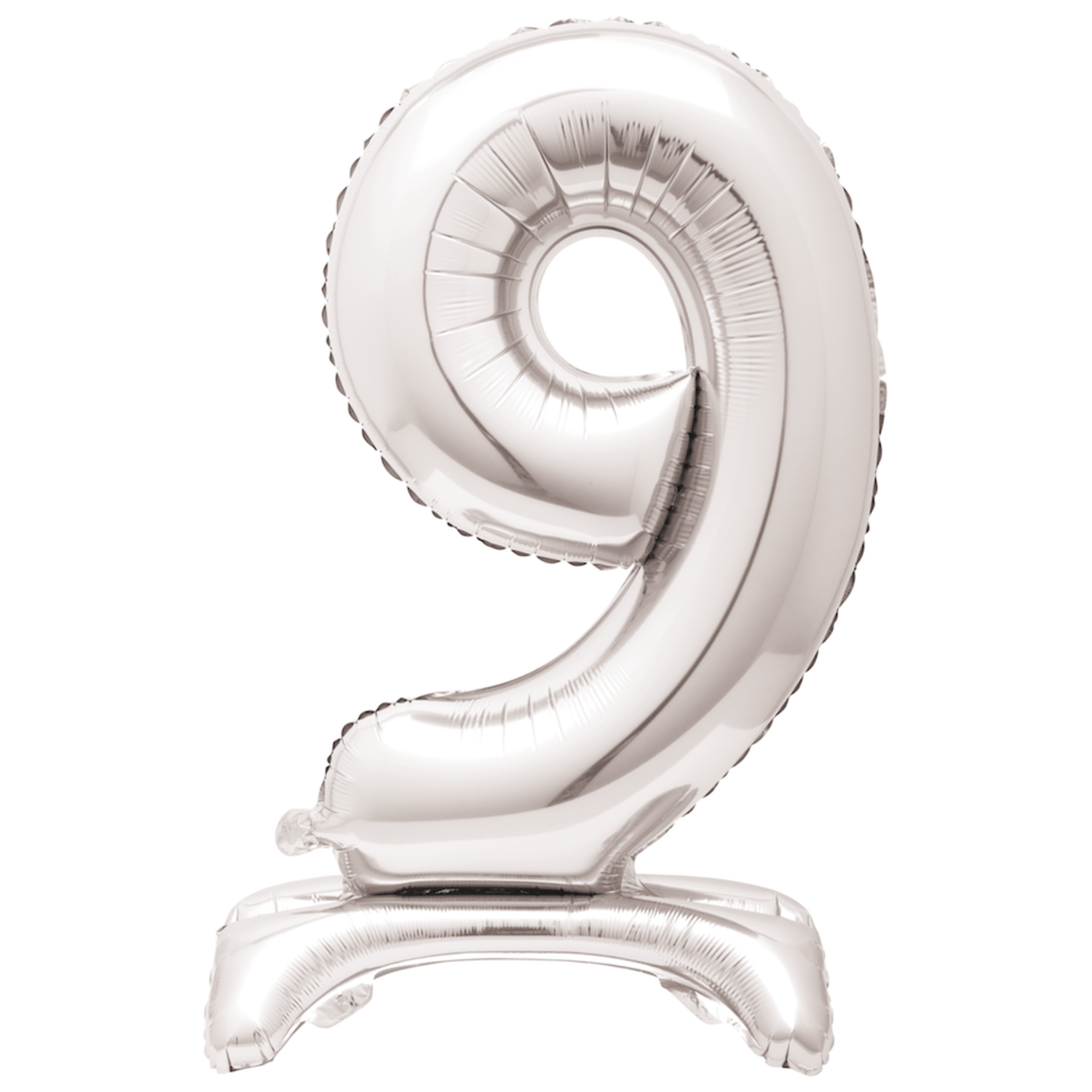 30'' SILVER FOIL STANDING FOIL BALLOON NUMBER 9