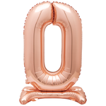 30'' ROSEGOLD FOIL STANDING BALLOON NUMBER 0