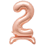30'' ROSEGOLD FOIL STANDING BALLOON NUMBER 2