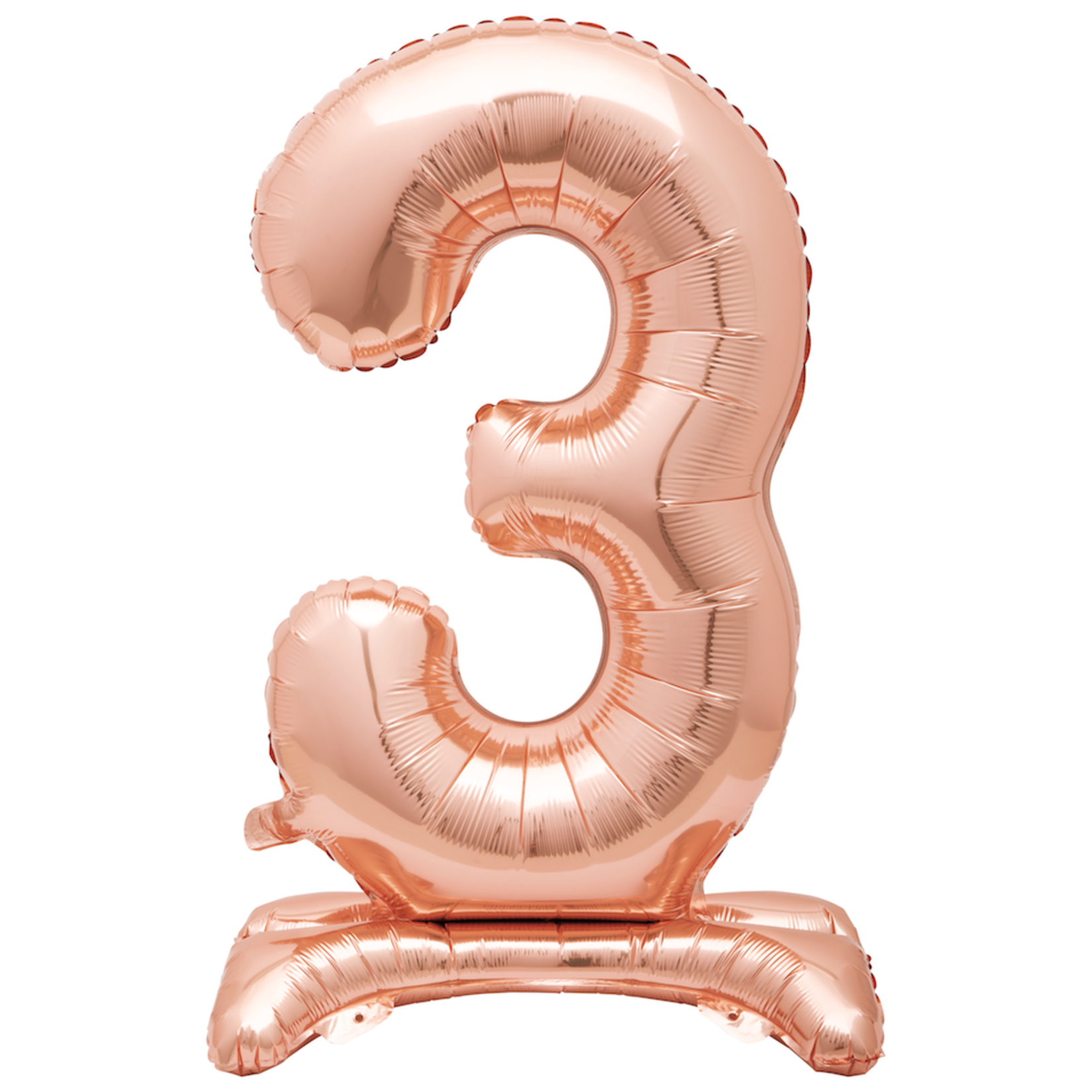 30'' ROSEGOLD STANDING FOIL BALLOON NUMBER 3