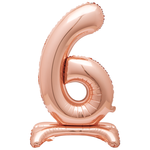 30'' ROSEGOLD FOIL STANDING BALLOON NUMBER 6