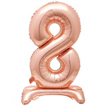 30'' ROSE GOLD FOIL STANDING BALLOON NUMBER 8