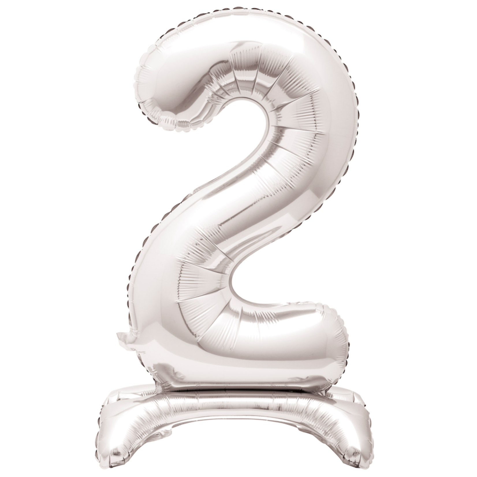 30'' SILVER FOIL STANDING BALLLOON NUMBER 2