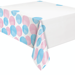 54'' X 84'' GENDER REVEAL PLASTIC TABLE COVER