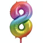 34'' RAINBOW FOIL BALLOON #8