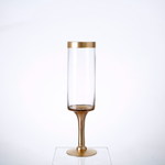 """15.5"""" X 4"""" GOLD GLASS CANDLE HOLDER"""