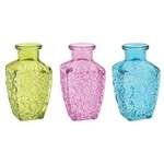 """50% OFF WAS $3.50 NOW $1.75 5""""H SQ SPRING EMB GLASS VASE"""
