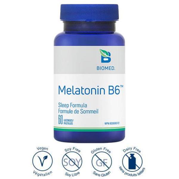 Biomed Biomed Melatonin + B6 60 loz