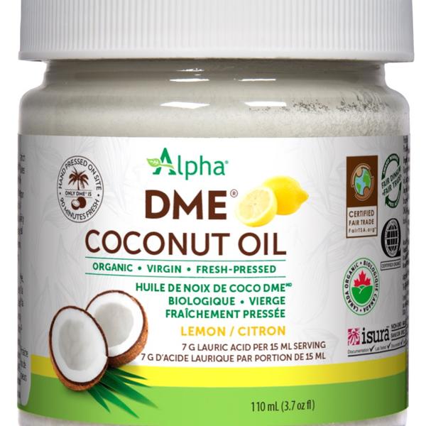 Alpha Alpha DME Virgin Coconut Oil 110 ml Lemon