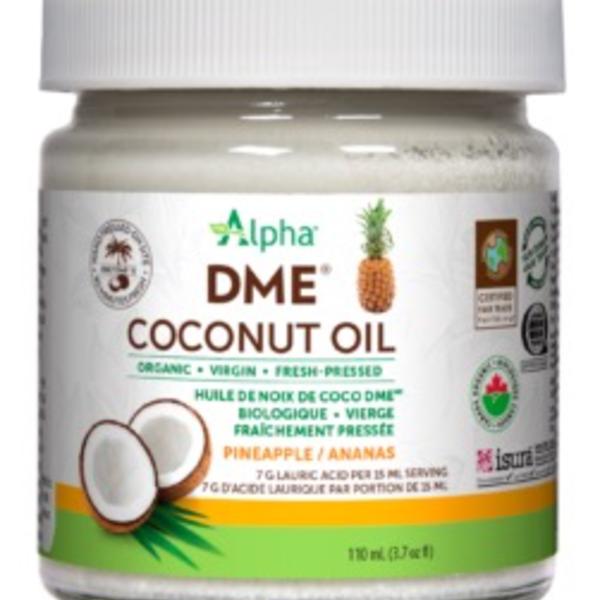 Alpha Alpha DME Virgin Coconut Oil 110ml Pineapple