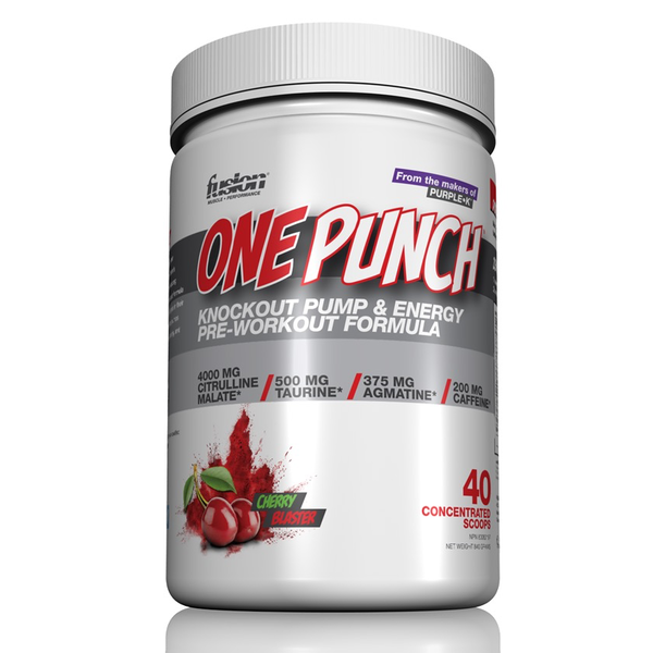 Fusion Bodybuilding Fusion One Punch Pre-Workout Cherry Blaster 260g