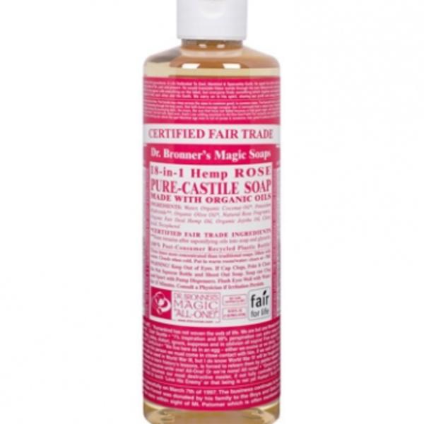 Dr. Bronner's Dr Bronner's Rose Oil Castile Soap Liquid 16oz
