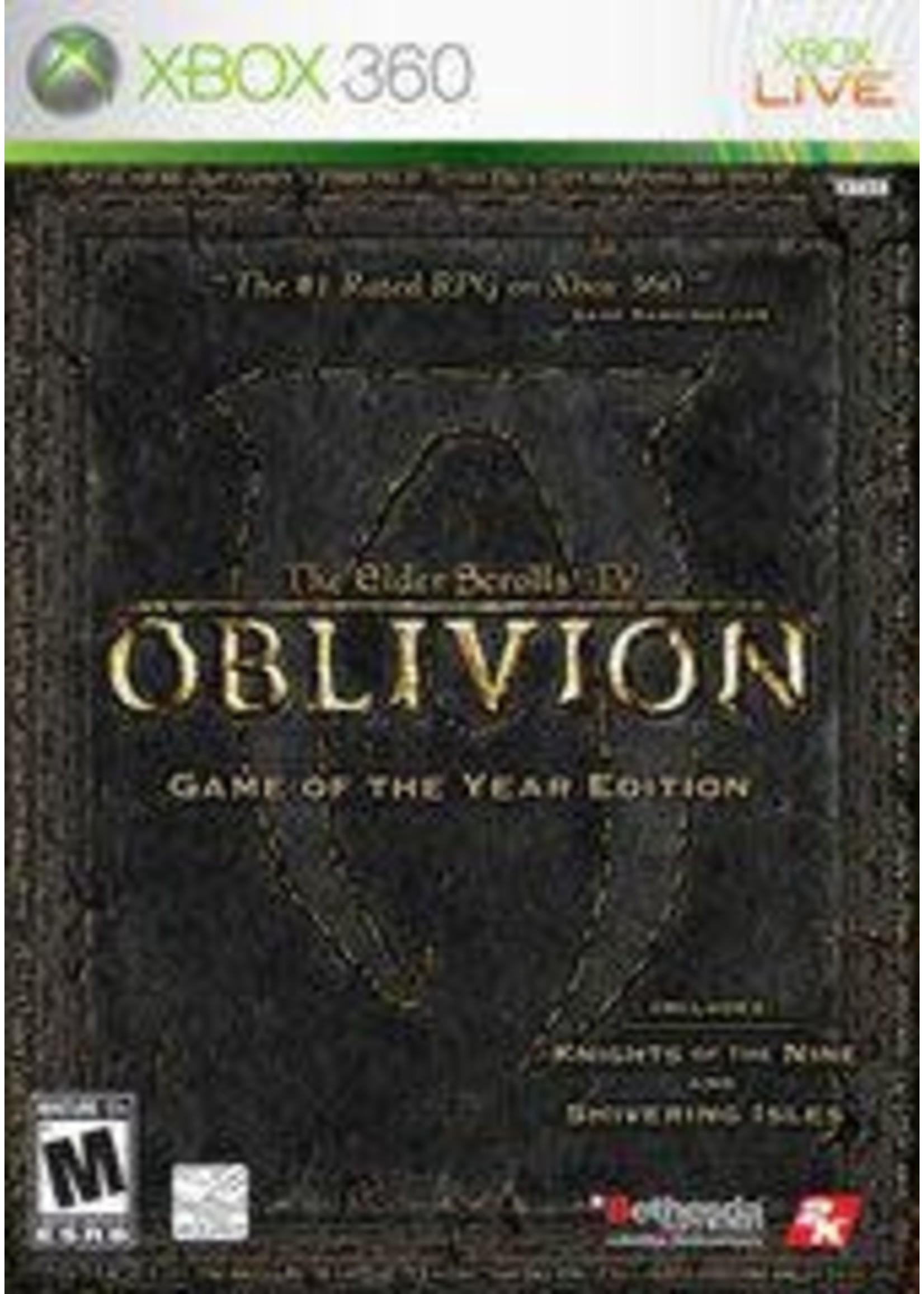Elder Scrolls IV Oblivion [Game Of The Year] Xbox 360