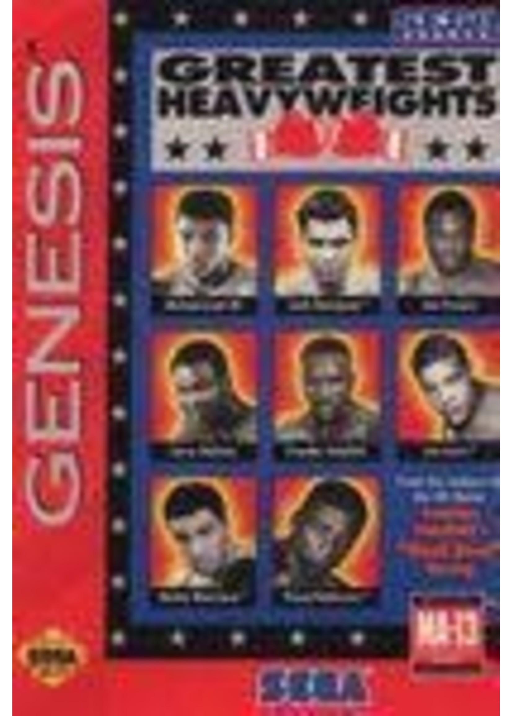 Greatest Heavyweights Sega Genesis