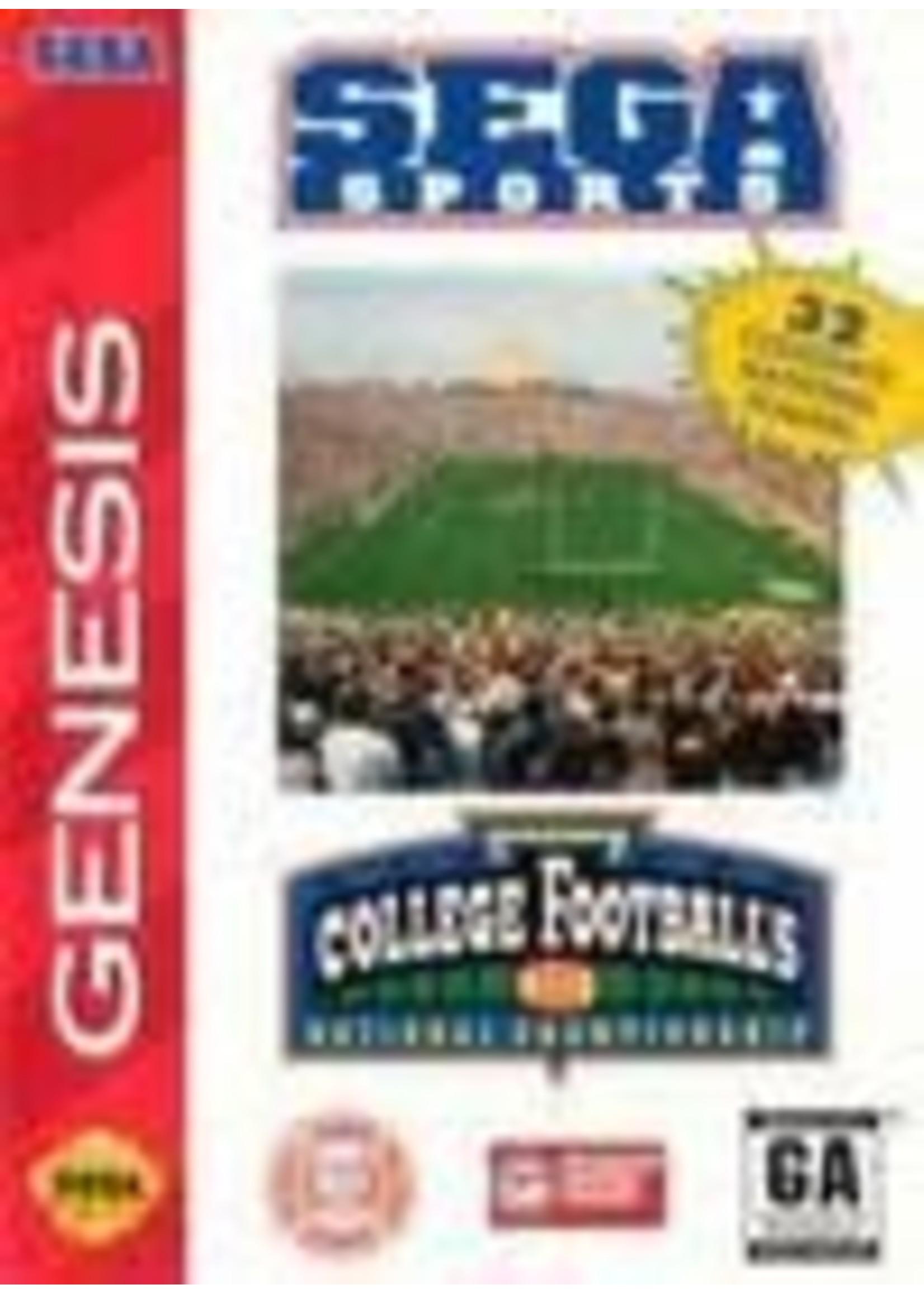 College Football's National Championship Sega Genesis