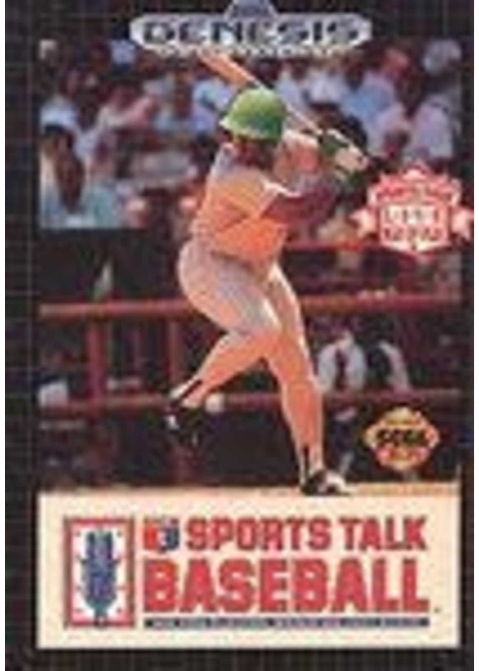 Sports Talk Baseball Sega Genesis