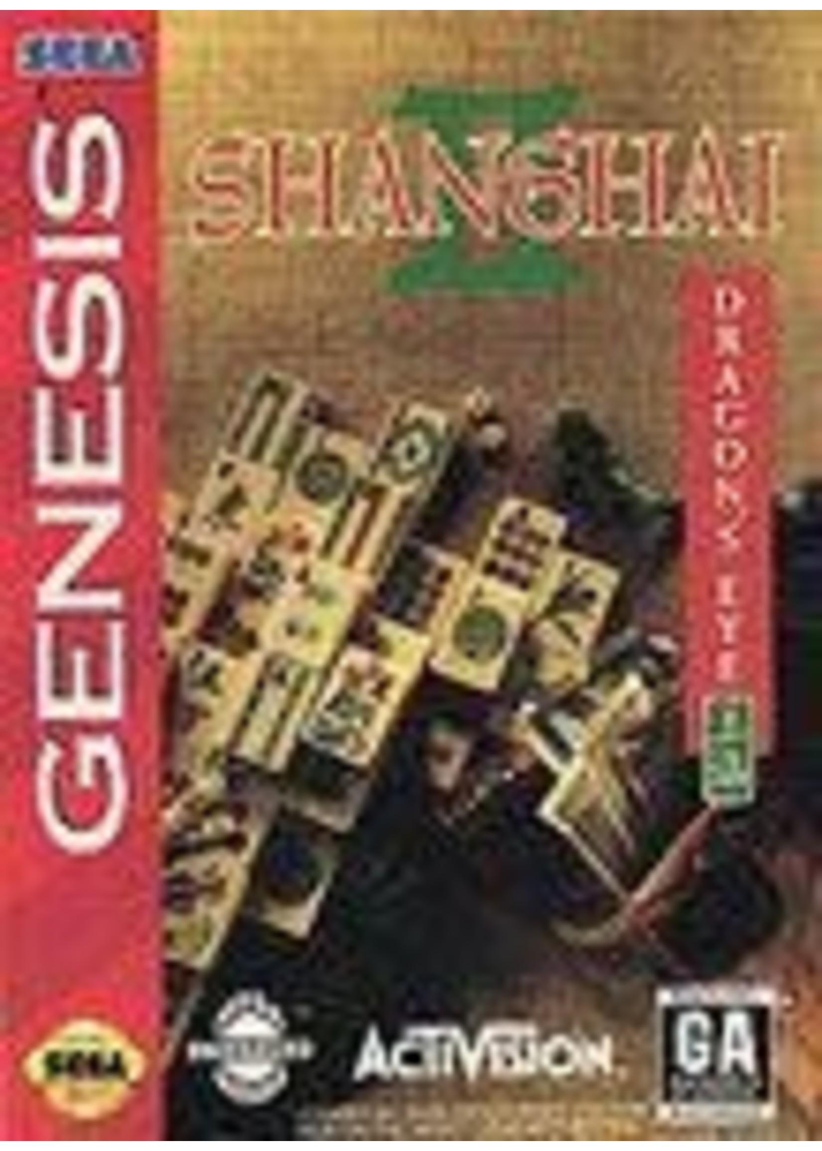 Shanghai II Dragon's Eye Sega Genesis