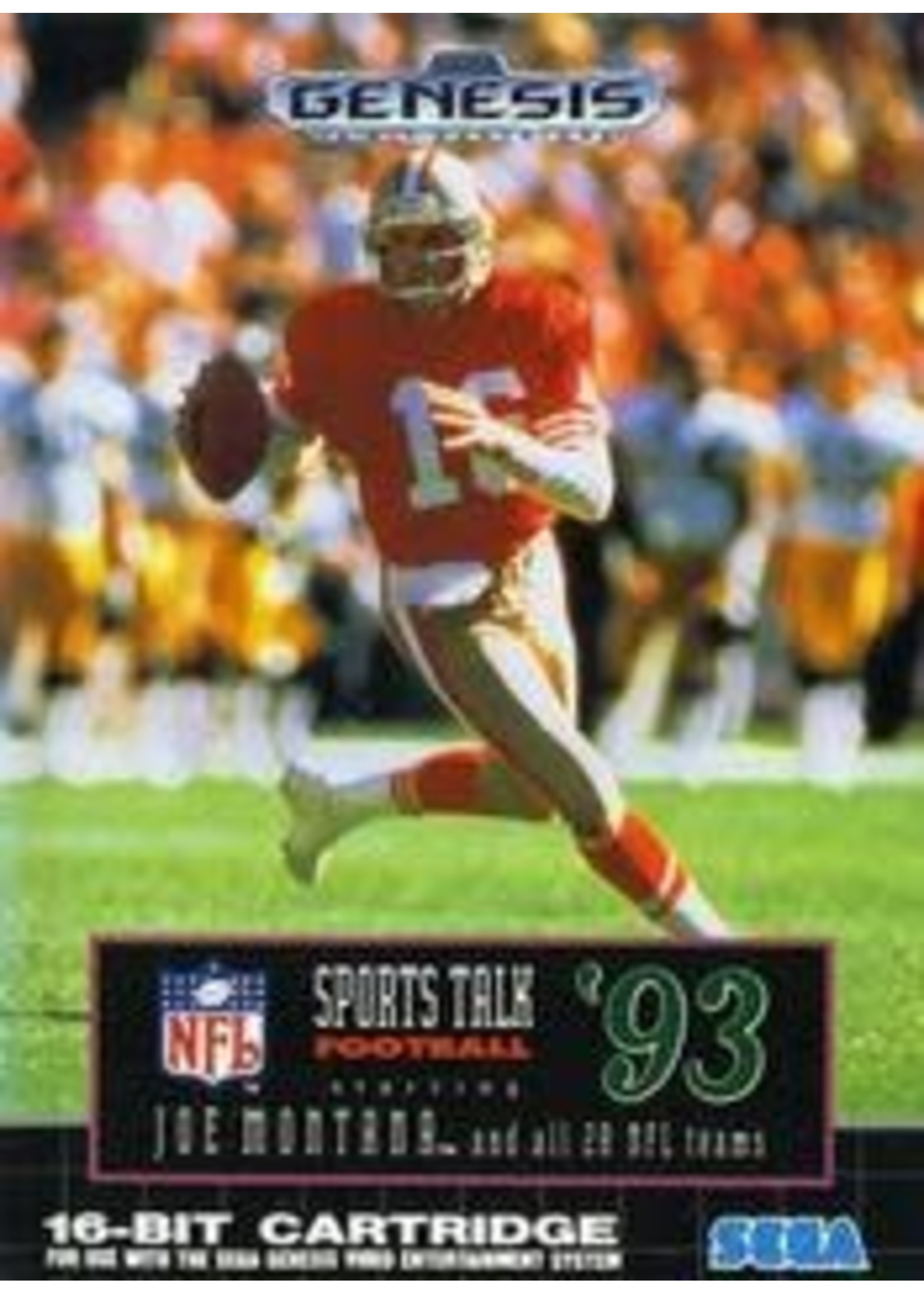 Sports Talk Football '93 Starring Joe Montana Sega Genesis