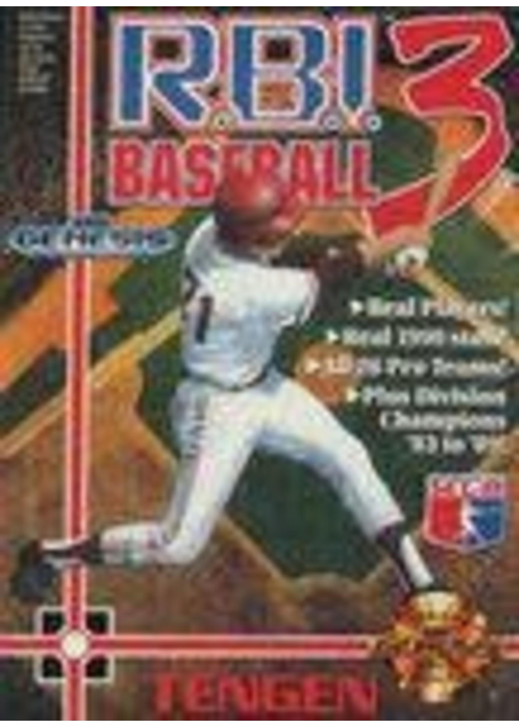 RBI Baseball 3 Sega Genesis