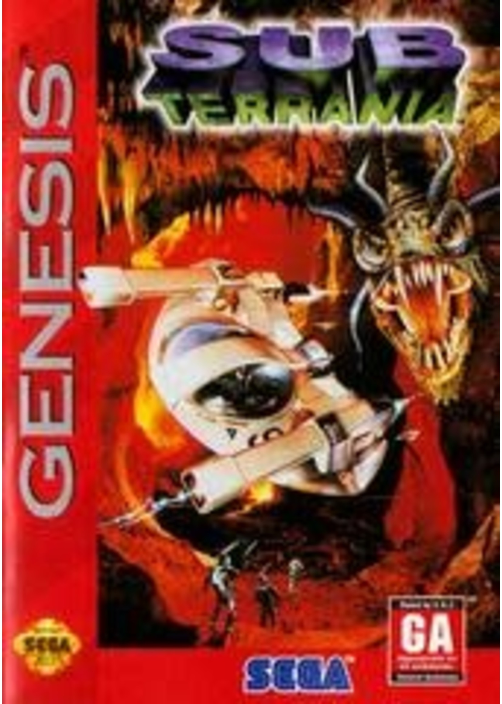 Sub Terrania Sega Genesis