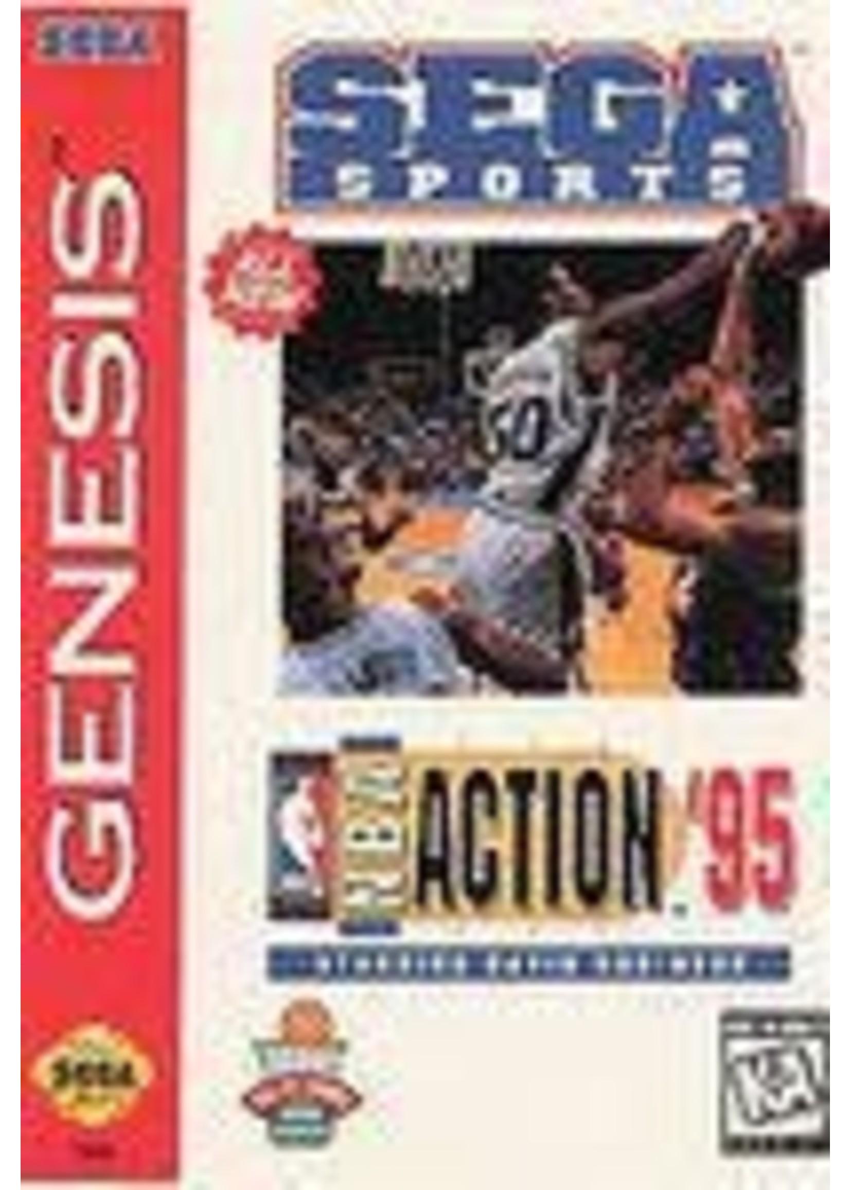 NBA Action '95 Starring David Robinson Sega Genesis