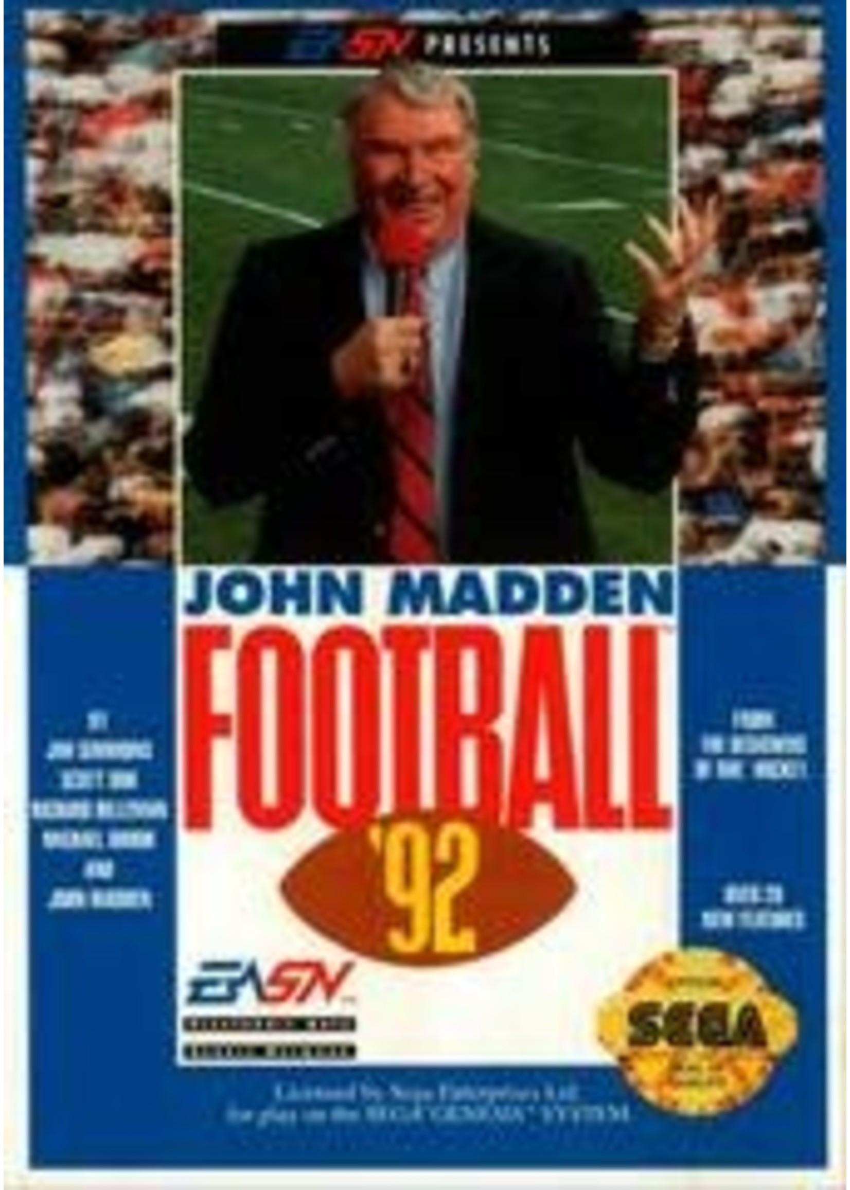 John Madden Football '92 Sega Genesis