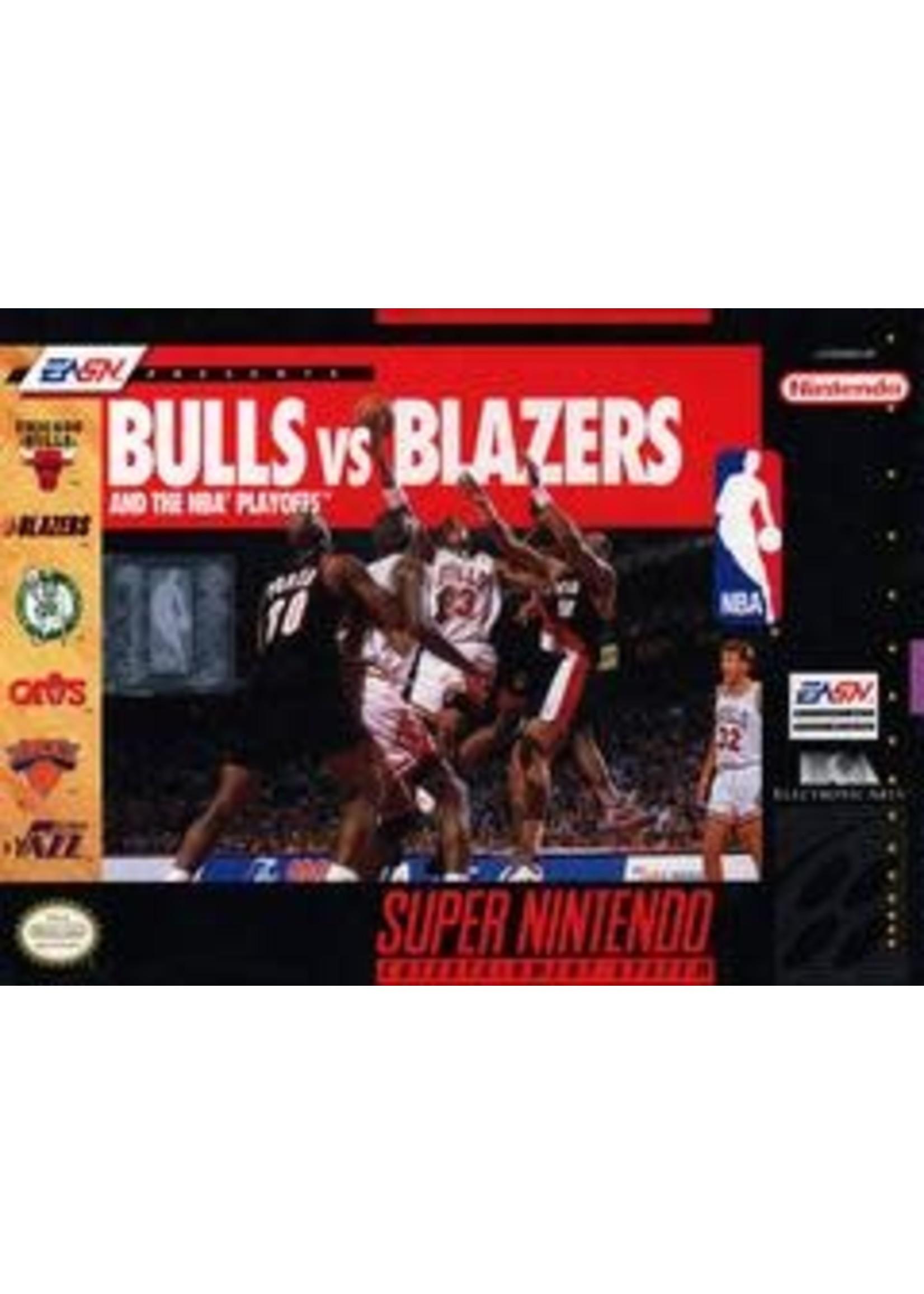 Bulls Vs Blazers And The NBA Playoffs Super Nintendo