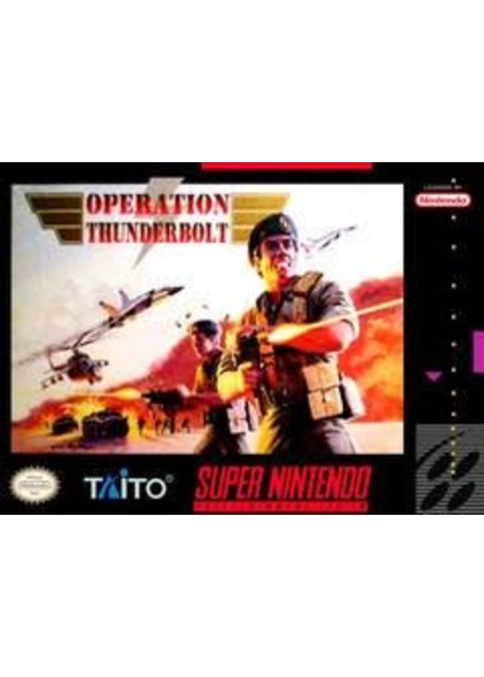 Operation Thunderbolt Super Nintendo