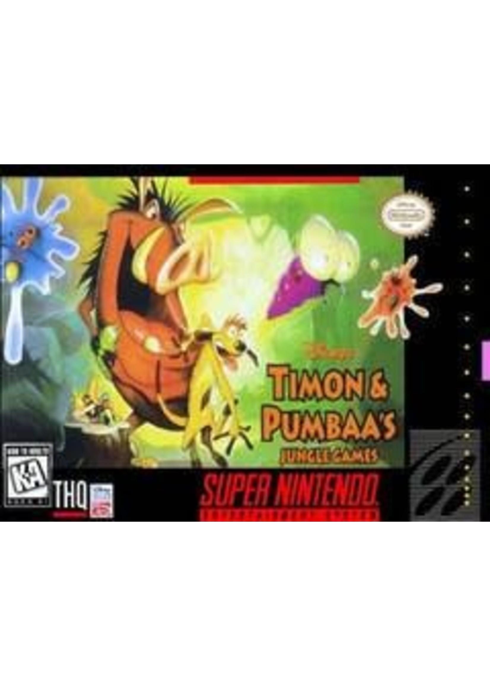 disney timon & pumbaa's jungle games