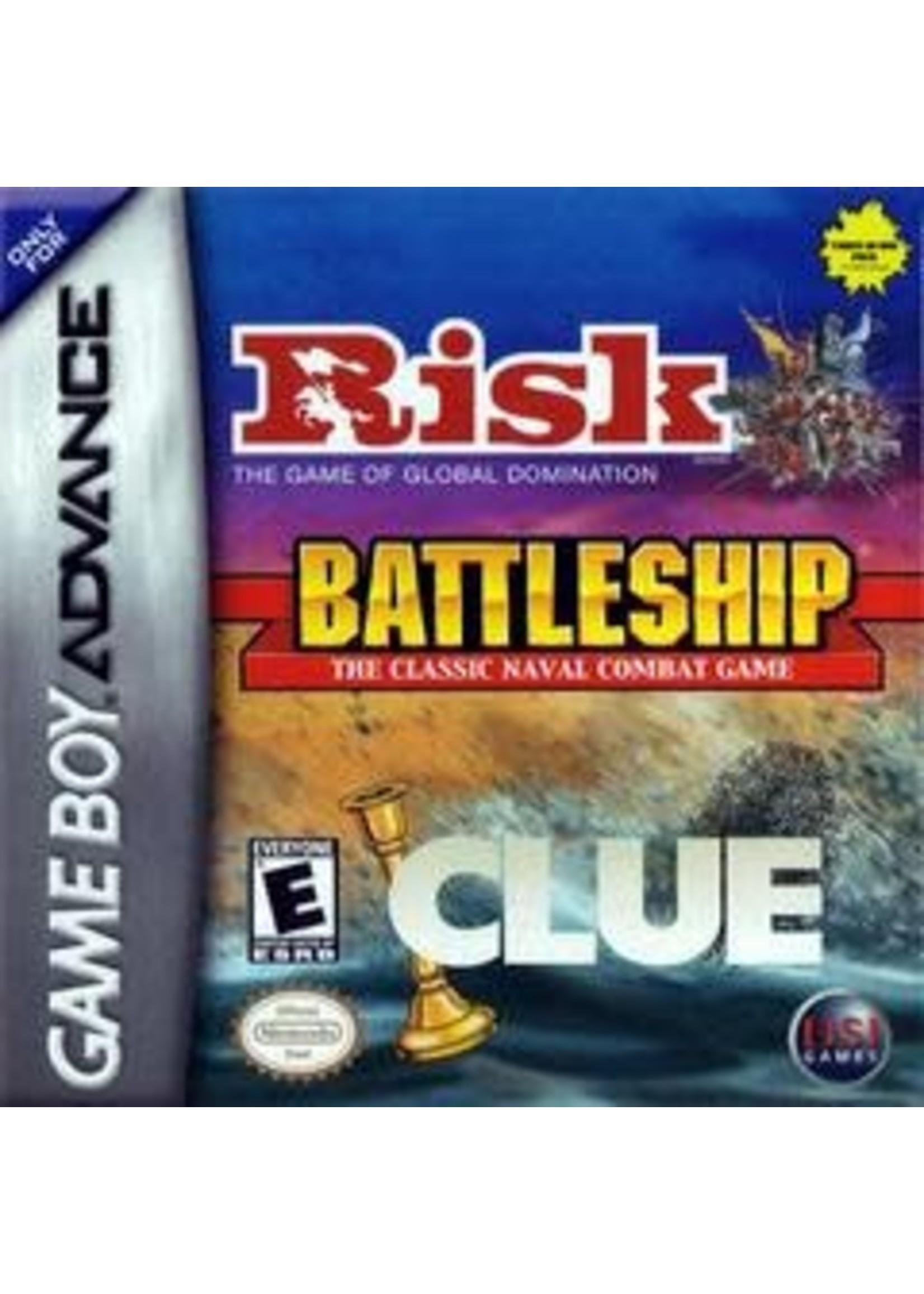 Risk / Battleship / Clue GameBoy Advance