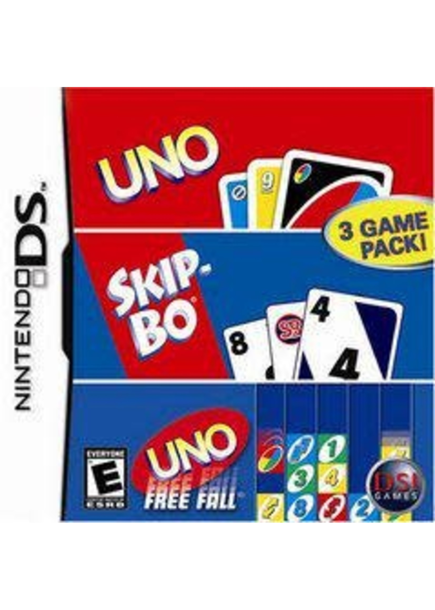 Uno & SkipBo & Free Fall Nintendo DS