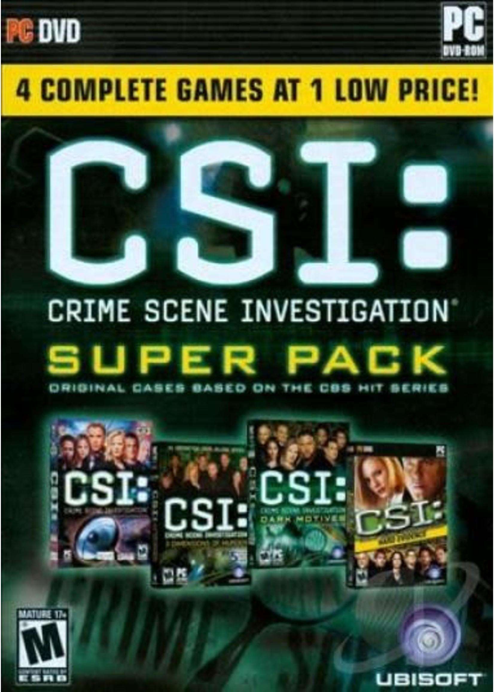 CSI: Crime Scene Investigation Super Pack PC Games