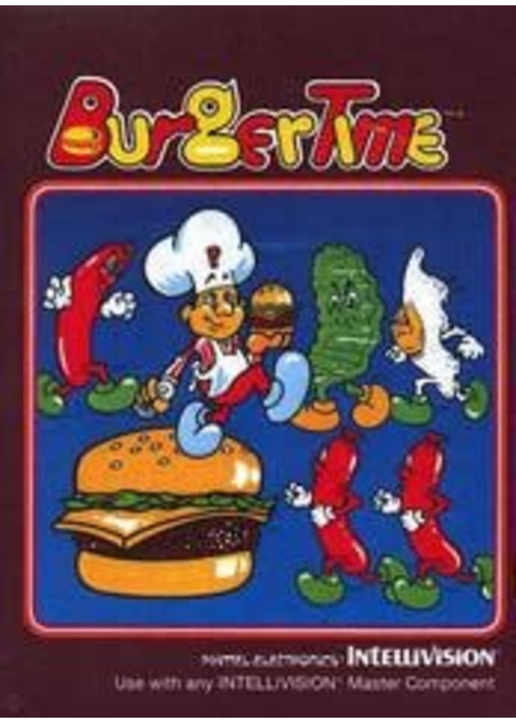 Burgertime Intellivision With Manual