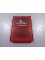 8MB Ps2 Memory Card-Red