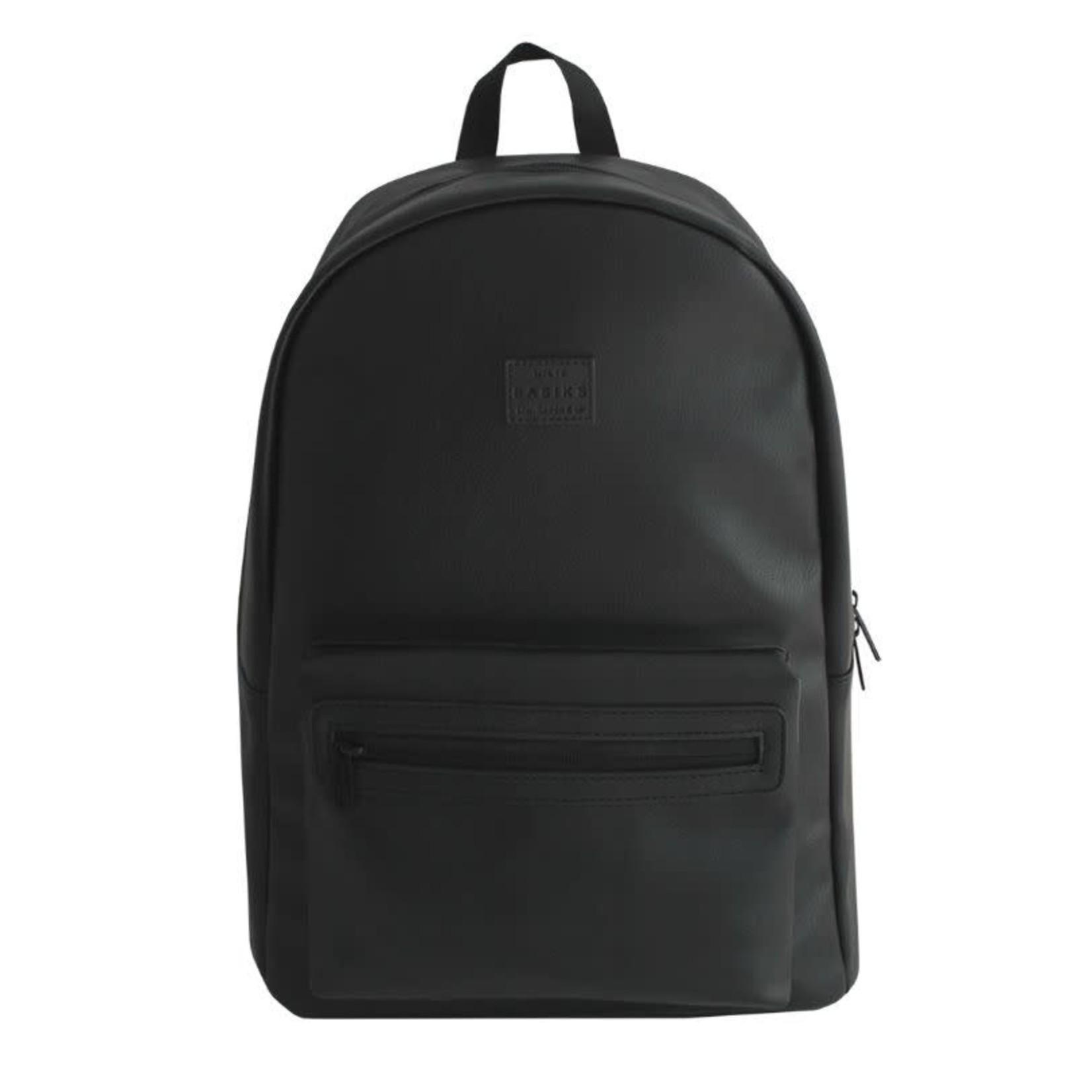 Basiks.Co Basiks.Co : Independant Vegan Leather Backpack,Black,O/S