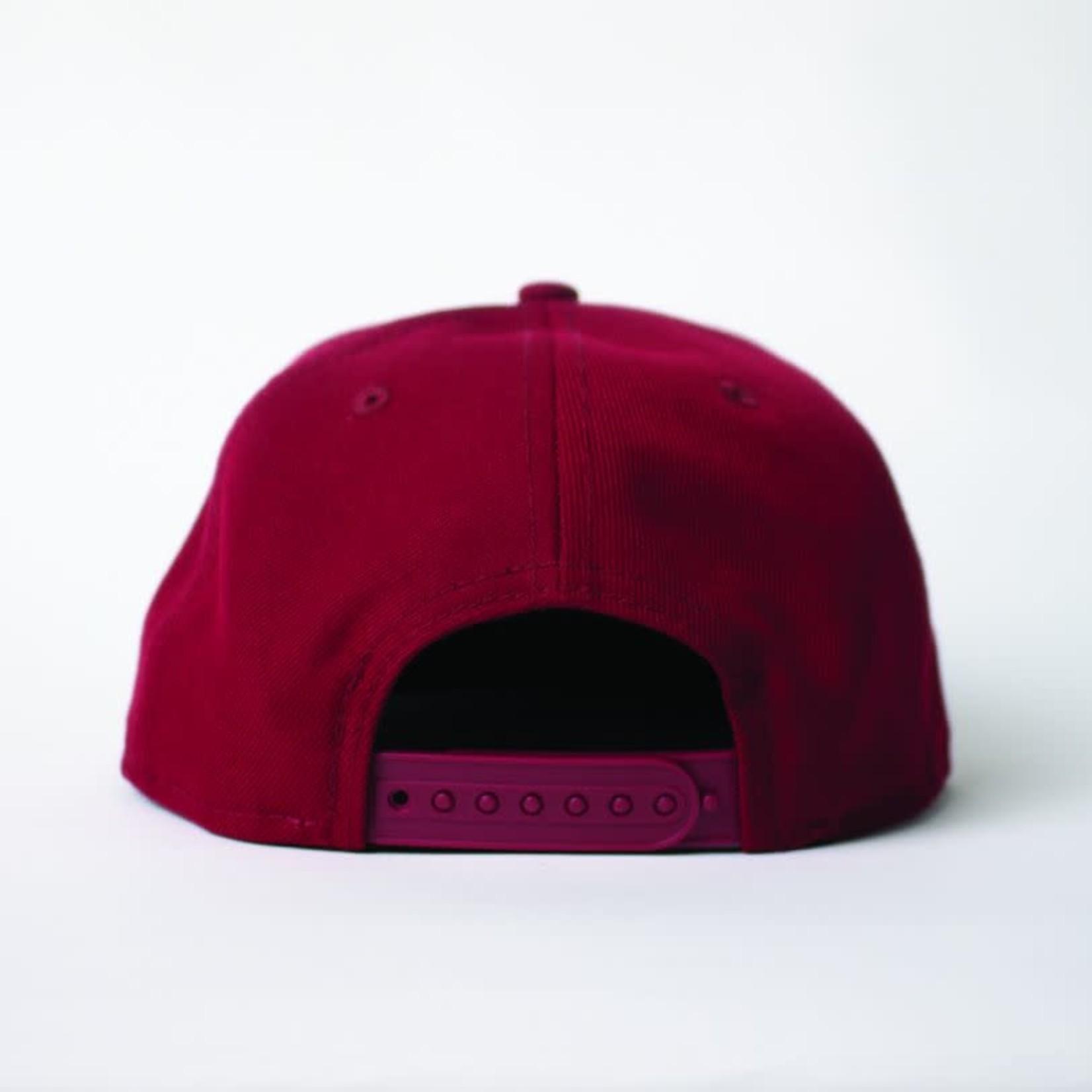 New Era New Era : 950OF WLKN Oblique Logo Snapback Cap Cardinal/Perfect Tan O/S