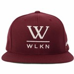 WLKN WLKN : WLKN - Basic Signature x #GETFAMILIAR Logo Snapback Burgundy O/S