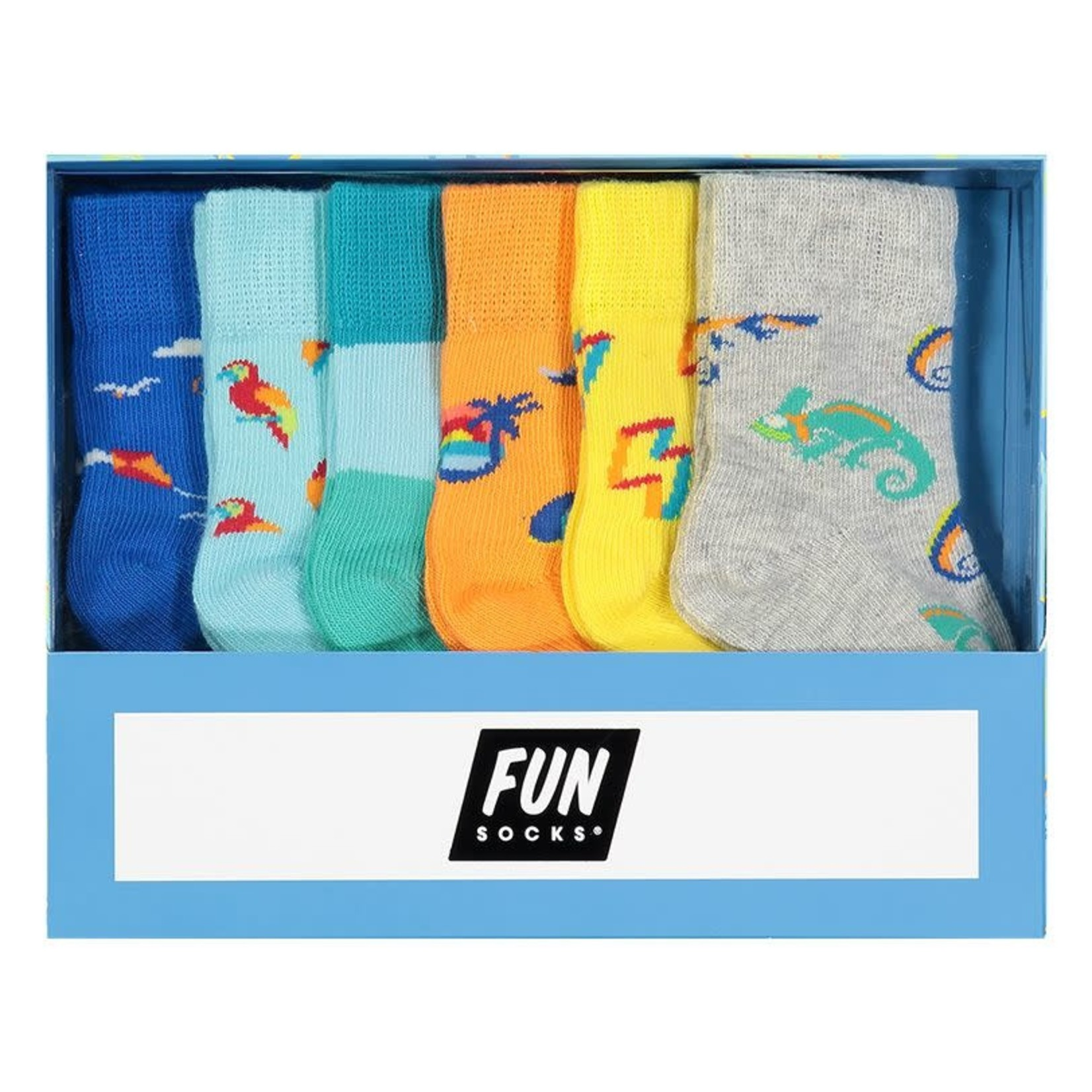 Fun Socks Fun Socks : 6 Pack Infant Boys Non Terry Crew Multi O/S