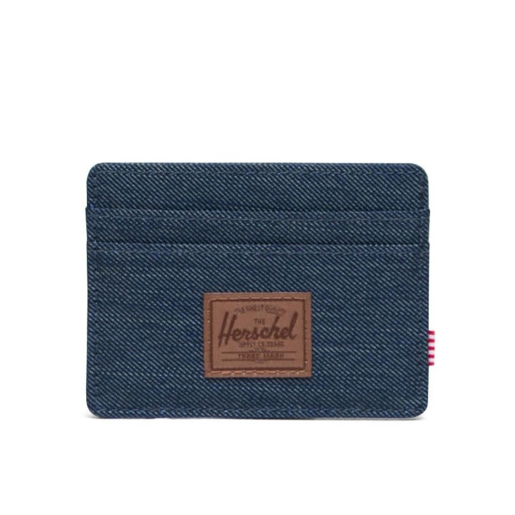 Herschel Herschel : Charlie + 600D Poly Wallet Indigo Denim Crosshatch/Saddle Brown O/S