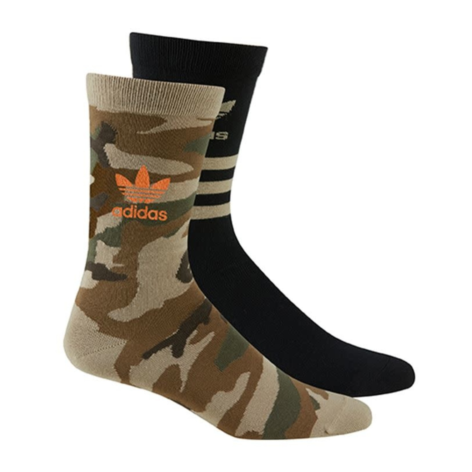 Adidas Adidas : 2Pack Crew Socks Hemp/Black O/S