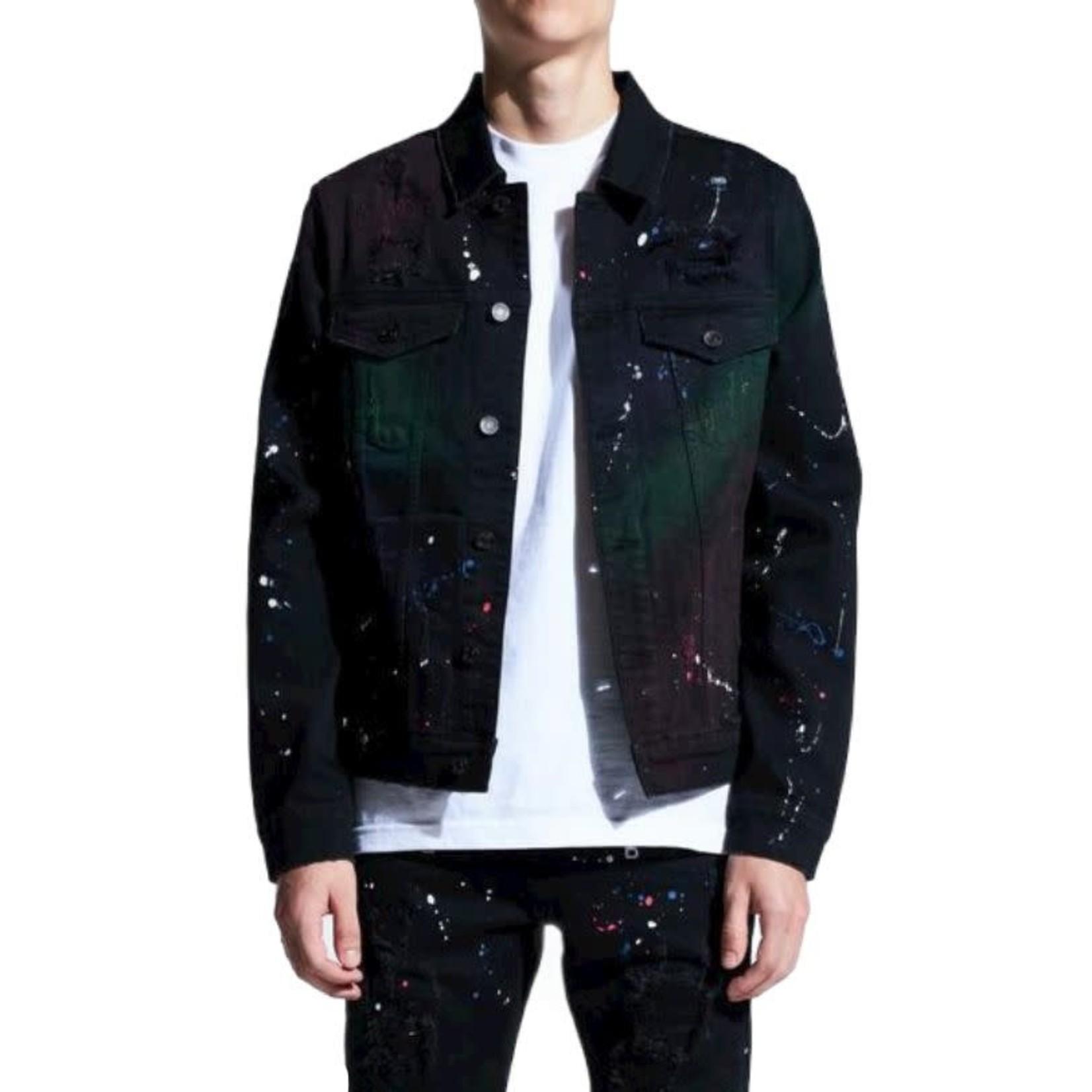 Crysp Crysp : Bering Paint Spot Denim Jacket