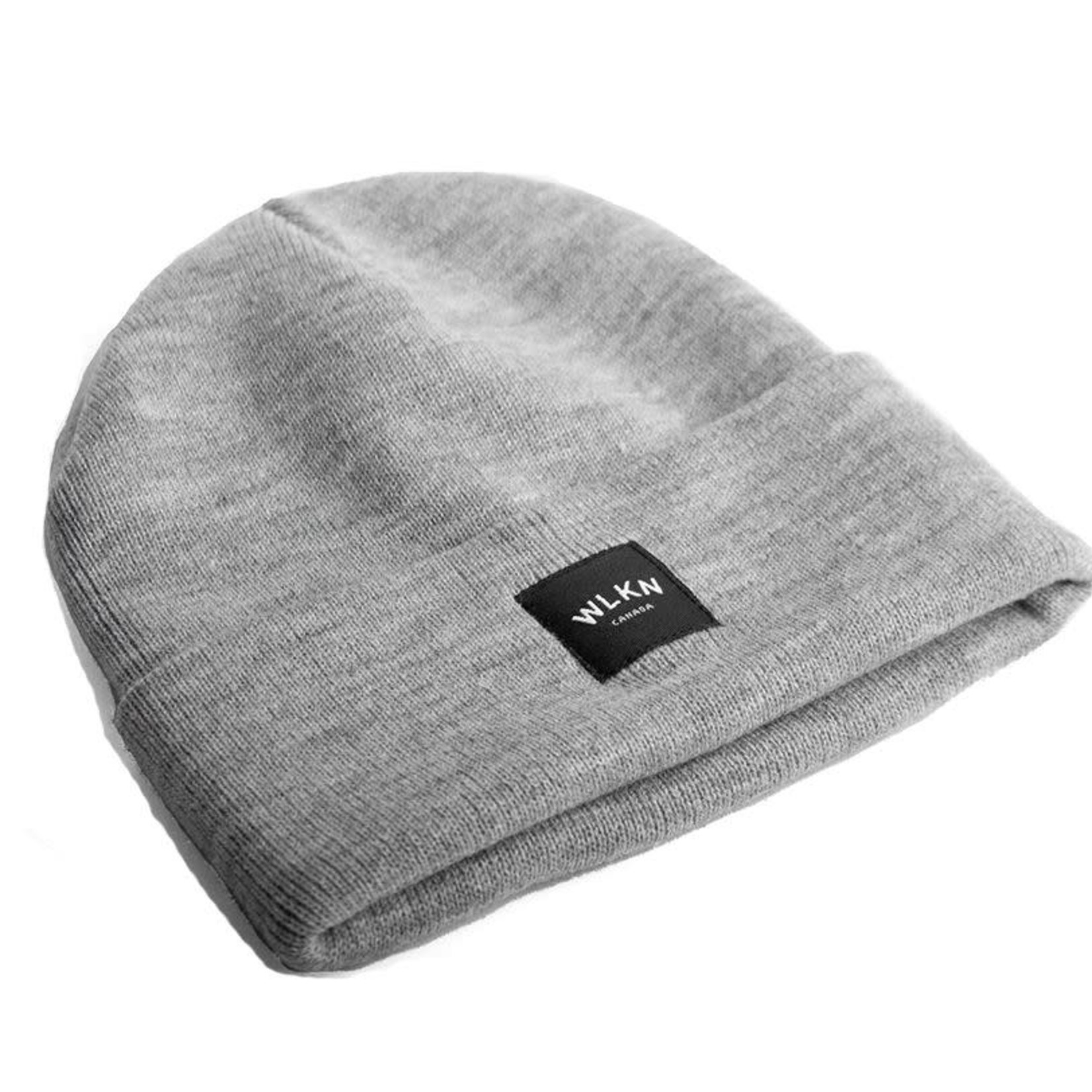 WLKN WLKN : Rounded Country Label Beanie Heather Grey O/S
