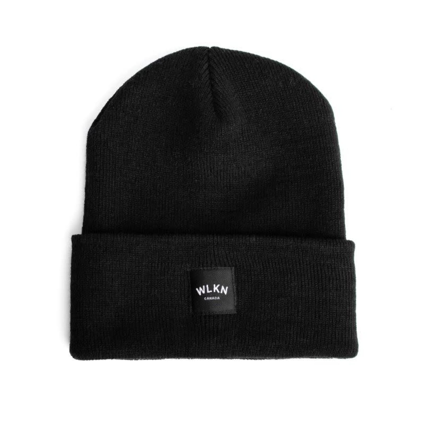 WLKN WLKN : Rounded Country Label Beanie Black O/S
