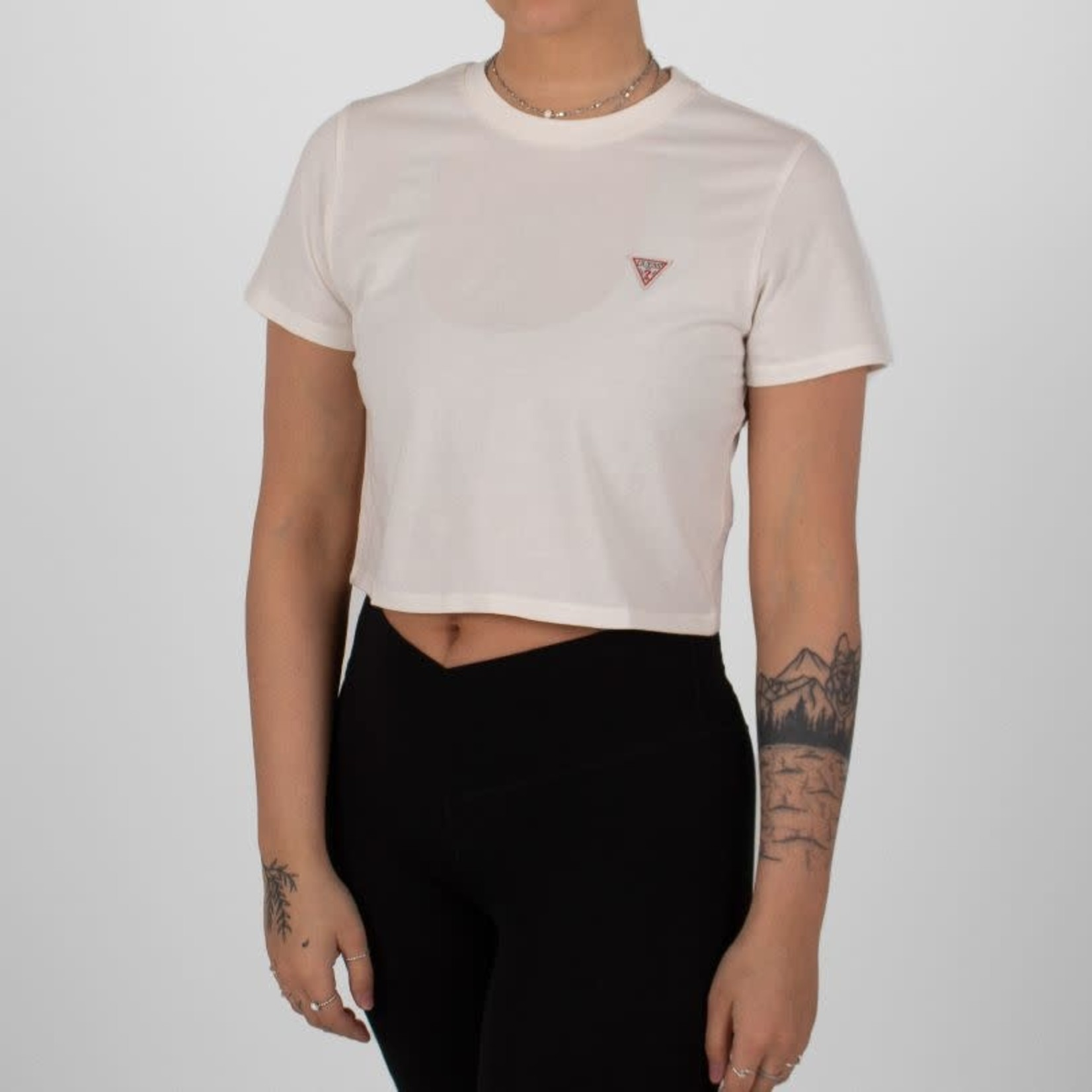 Guess Guess: SS Cropped Logo Crew Tee
