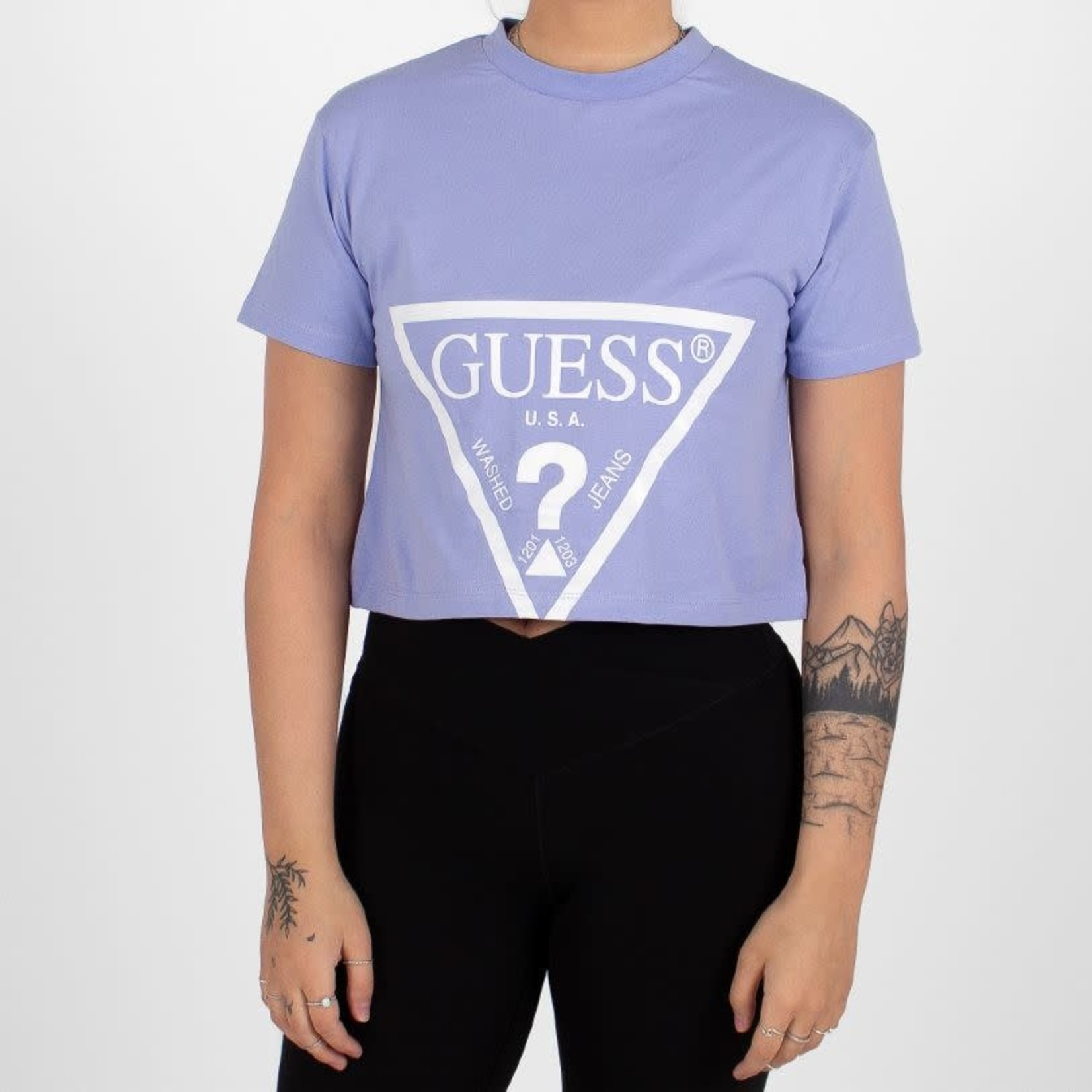 Guess Guess : Adele Printed SS Crop Tee