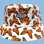 Petals and Peacocks Petals and Peacocks : Butterfly Effect bucket Hat