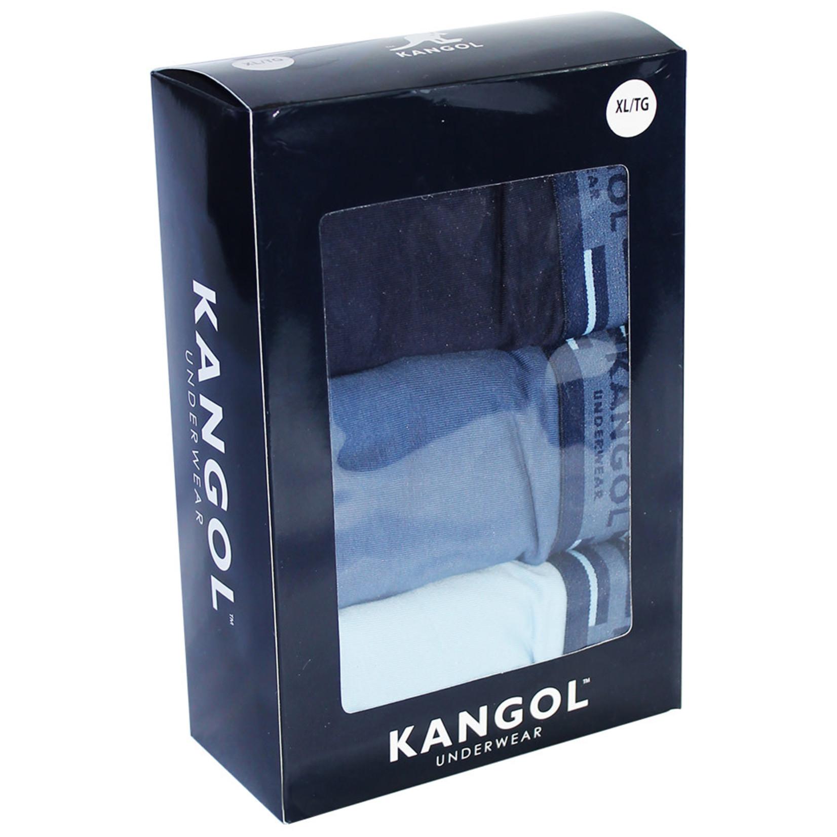 Kangol Kangol : 3 blue tones boxers
