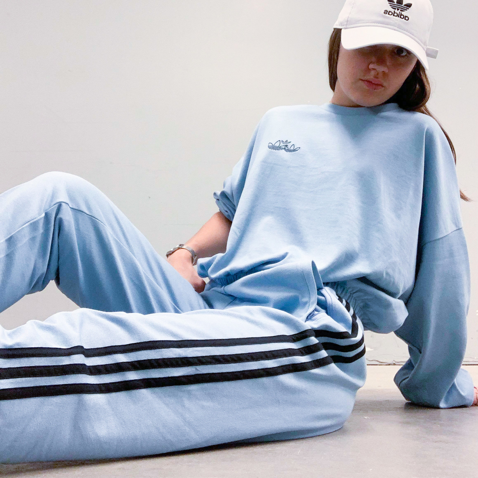Adidas Adidas : Triple Trefoil Logo Sweatshirt