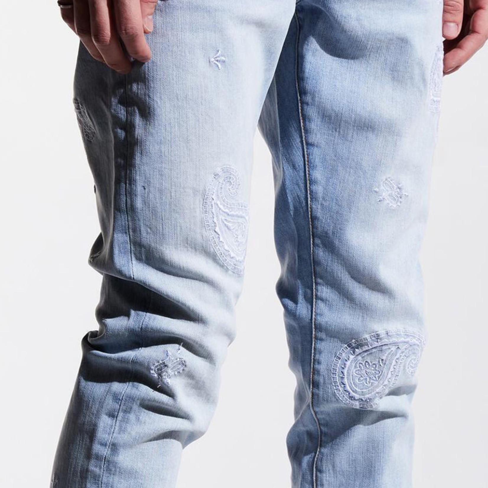 Embellish NYC Embellish : Paisley Dash Denim Pants